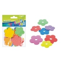 Set Creativ - Aplicatii textile in forma de floricele colorate