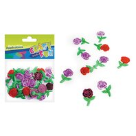 Set creativ - Aplicatii textile trandafiri 30 buc