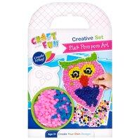 Set creativ - Set Pom Pom colorate, Bufnita