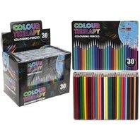 Set de 30 creioane colorate in cutie metalica