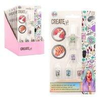 Set de arta pentru fetite  Kit pentru unghii- Oja si sclipici 4 culori