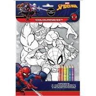 Set de colorat Spiderman