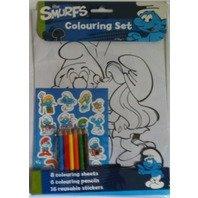 Set de colorat Strumfii