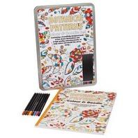 Set de lux de colorat pentru adulti modele botanice