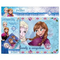 Set Frozen protectie masa: suport farfurie si pahar 42X27 cm, 4 piese