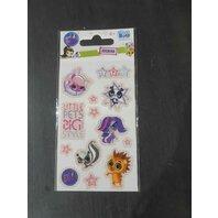 Sticker animalute cu sclipici Little Pets