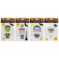 Sticker de fereastra 15 X 20cm Halloween PRINTED GEL,4 modele