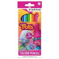 Trolls creioane colorate 12 culori