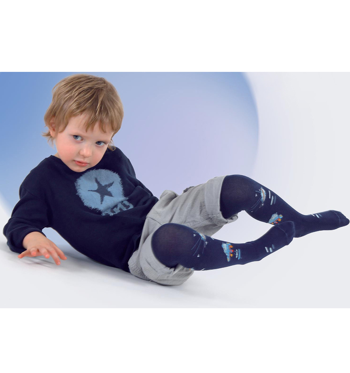 Patterned tights for boys 501-004B