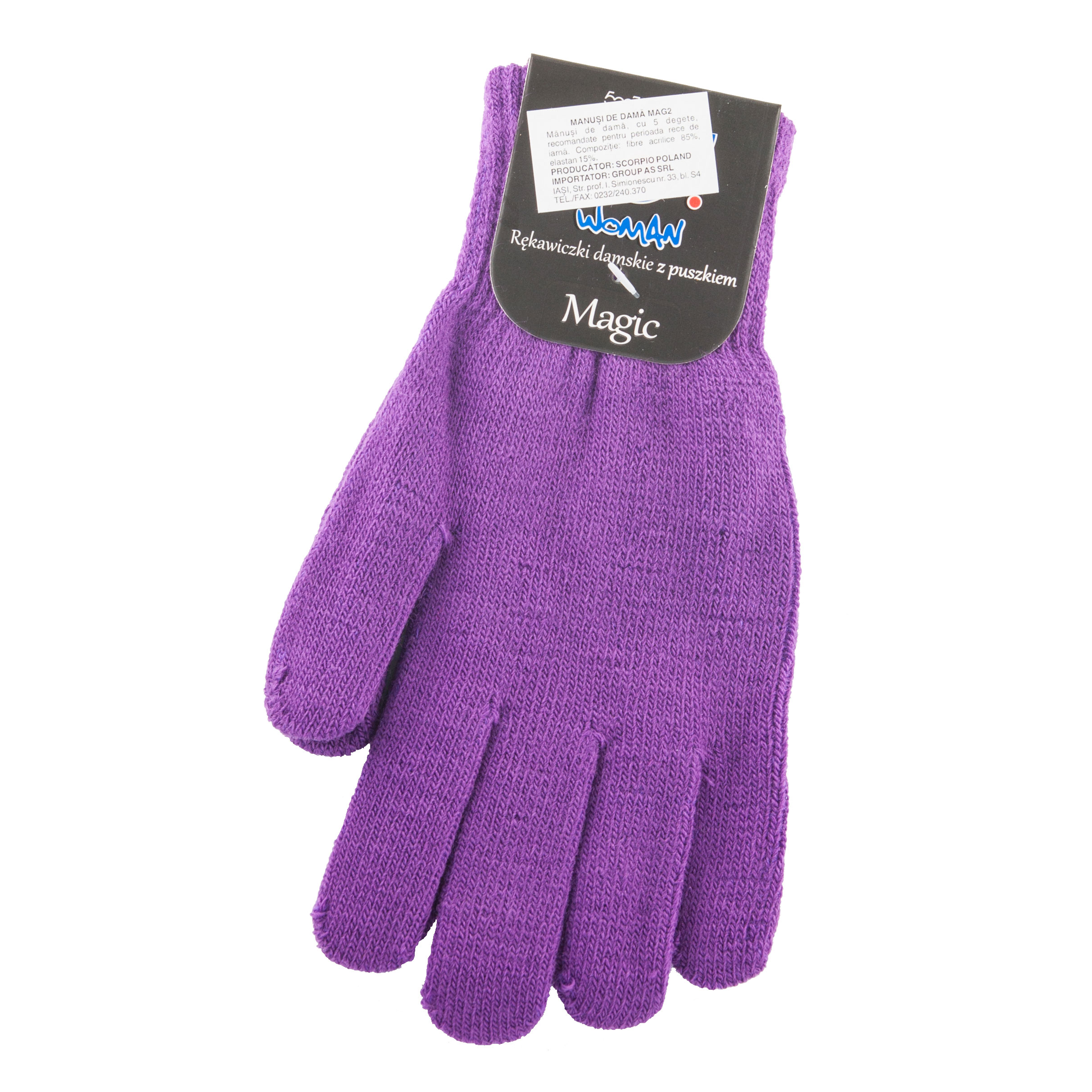 Acrylic gloves, mixed colors MAG2MIXT