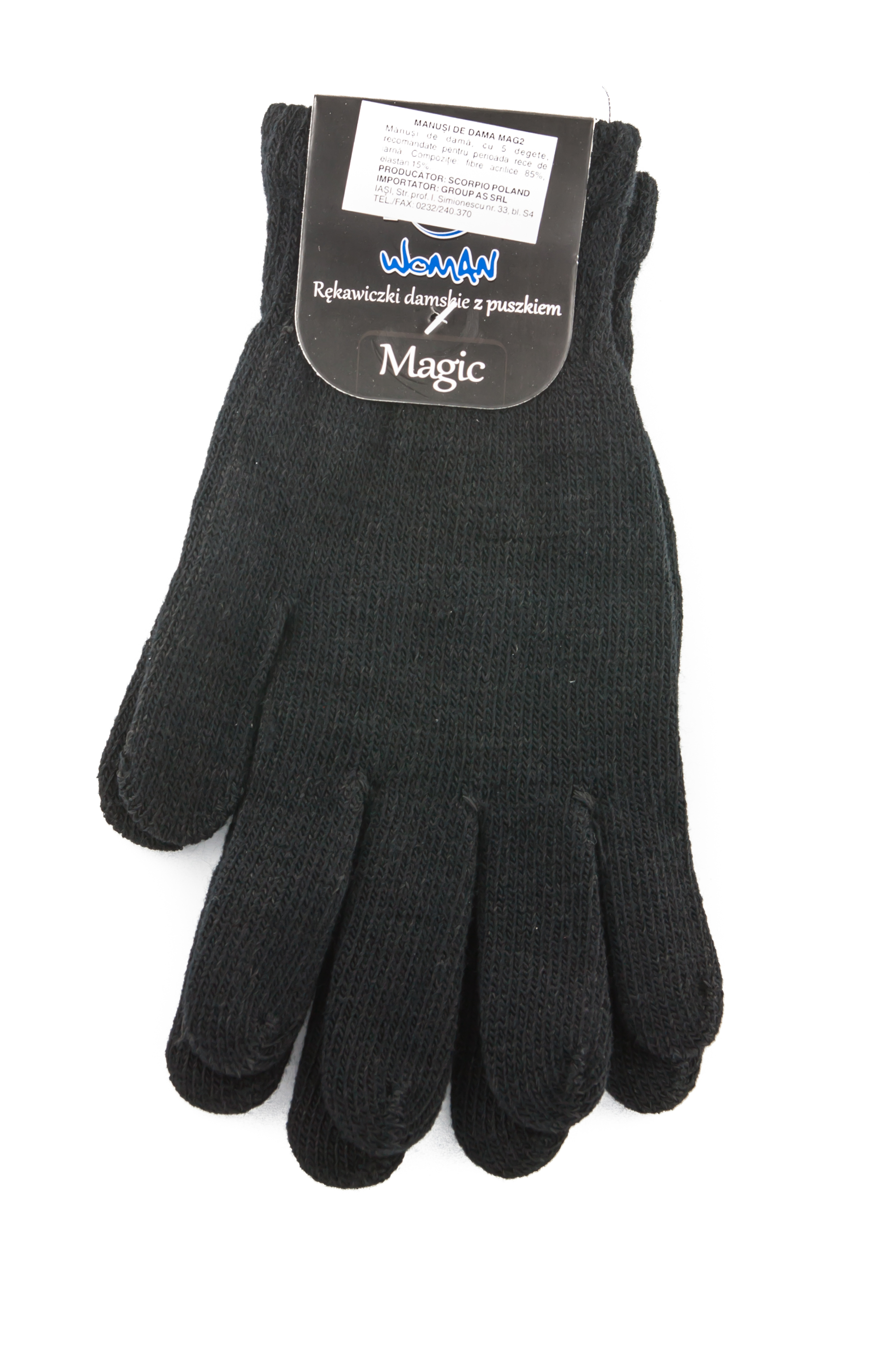 Acrylic gloves, black colors MAG2MIXT