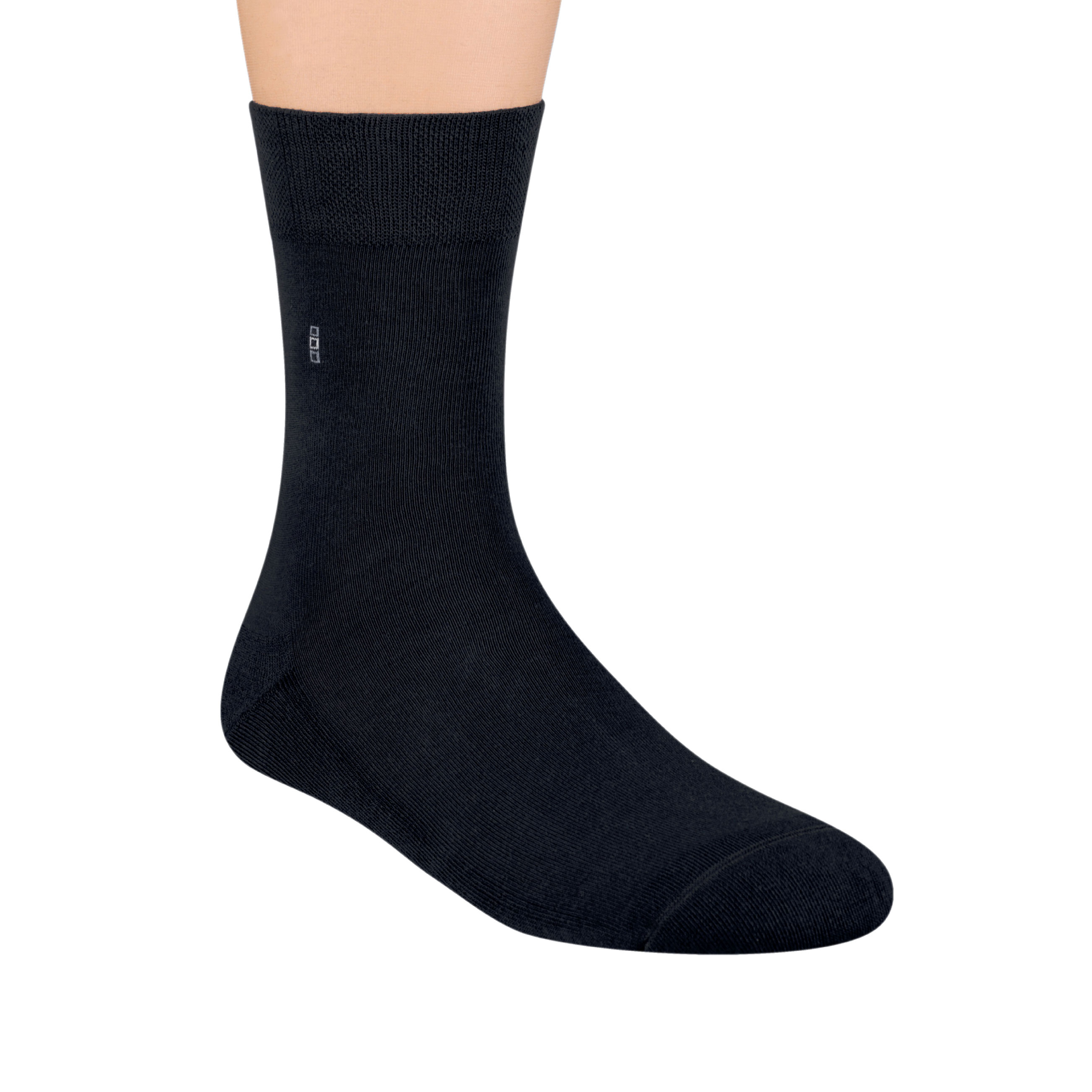 MEN'S SOCKS WITH SOLE FOR SHOES Frota, S003 BLACK