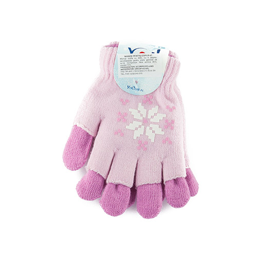 Double gloves, acrylic, ABS for girls R97G(A)