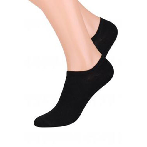 INVISIBLE PEDOLINE SOCKS, S007 BLACK