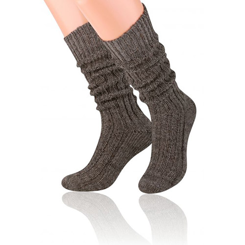 Natural Wool Socks, S008 Bark Shade
