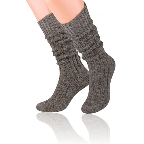 Natural Wool Socks, S008 Grey