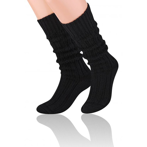 Natural Wool Socks, S008 Black