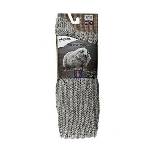 NATURAL WOOL SOCKS, R008 LIGHT GREY