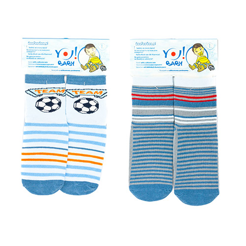 Socks with ABS-SILICONE for boys SK-10B