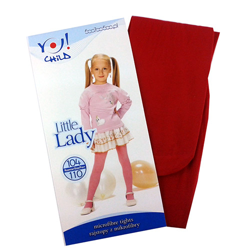 Microfiber Tights for girls Red RA-09-32
