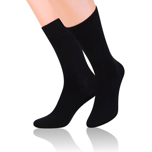 Bambus socks shoes S124 negru