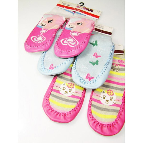 Girls socks with leather soles HOME SOCKS Skor