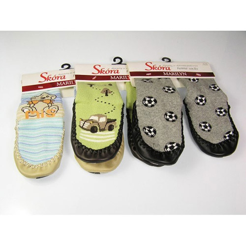 Boys socks with leather soles HOME SOCKS Skor