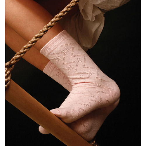 Jacquard cotton socks 103-002