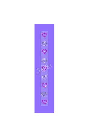 Bretele transparente sutien glitter RK-166