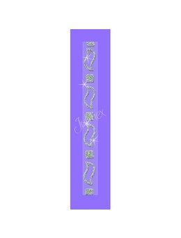 Bretele transparente sutien glitter RK-354