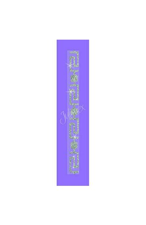 Bretele transparente sutien glitter RK-355