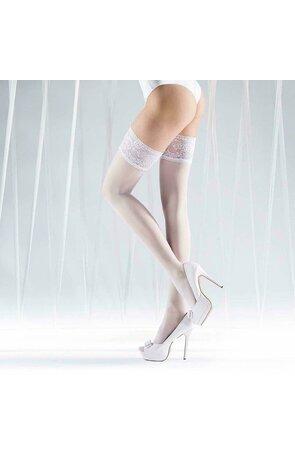 Ciorapi albi cu banda adeziva Knittex Just Married