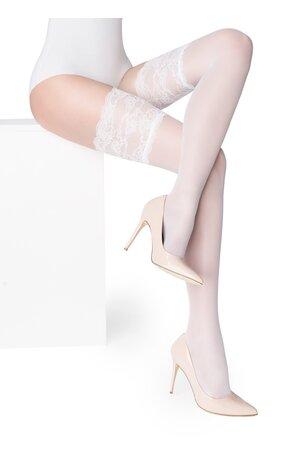 Ciorapi albi cu banda adeziva Paris 03