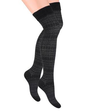 Ciorapi dama peste genunchi 076 negru
