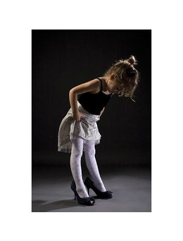 Ciorapi pantalon cu OVERPRINT pentru fete 539-004