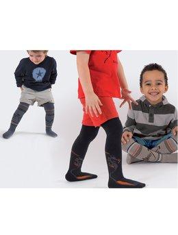 Ciorapi pantalon flausati colorati pt baieti 534-013B