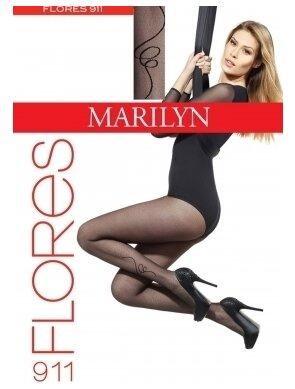 Ciorapi subtiri cu model FLORES 911