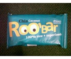 Baton Roo-Bar cu seminte de Chia si Cocos raw 50 gr