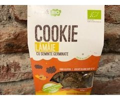 ECO COOKIE RAW LAMAIE CU SEMINTE GERMINATE 80 GR