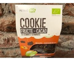 ECO COOKIES RAW FRUCTE-CACAO CU SEMINTE GERMINATE 80 GR