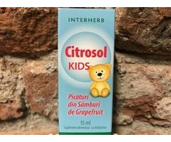 NATURAL CITROSOL KIDS - EXTRACT DIN SEMINTE DE GRAPEFRUIT  15 ML