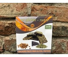 NATURAL CRACKERS PALEO PROTEICE FARA GLUTEN 100 GR