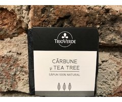 NATURAL SAPUN CU CARBUNE SI TEA TREE 110 GR