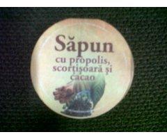NATURAL SAPUN CU PROPOLIS SCORTISOARA CACAO MANUFACTURAT