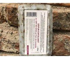 NATURAL SAPUN EXFOLIANT CU FLORI DE LAVANDA SI UNT DE SHEA 200 GR
