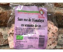 NATURAL SARE ROZ DE HIMALAYA CU SEMINTE DE IN 450 GR