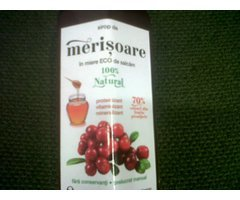NATURAL SIROP DE MERISOARE IN MIERE 230ML