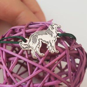 Bratara Barzoi - Argint 925, snur reglabil