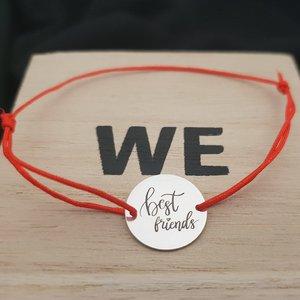 Bratara Best friends - Argint 925, snur rosu