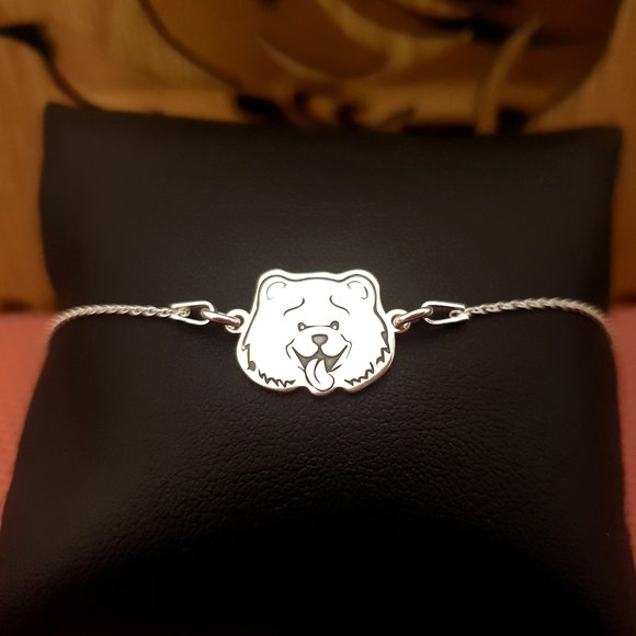Bratara Chow Chow cu lantisor - Argint 925